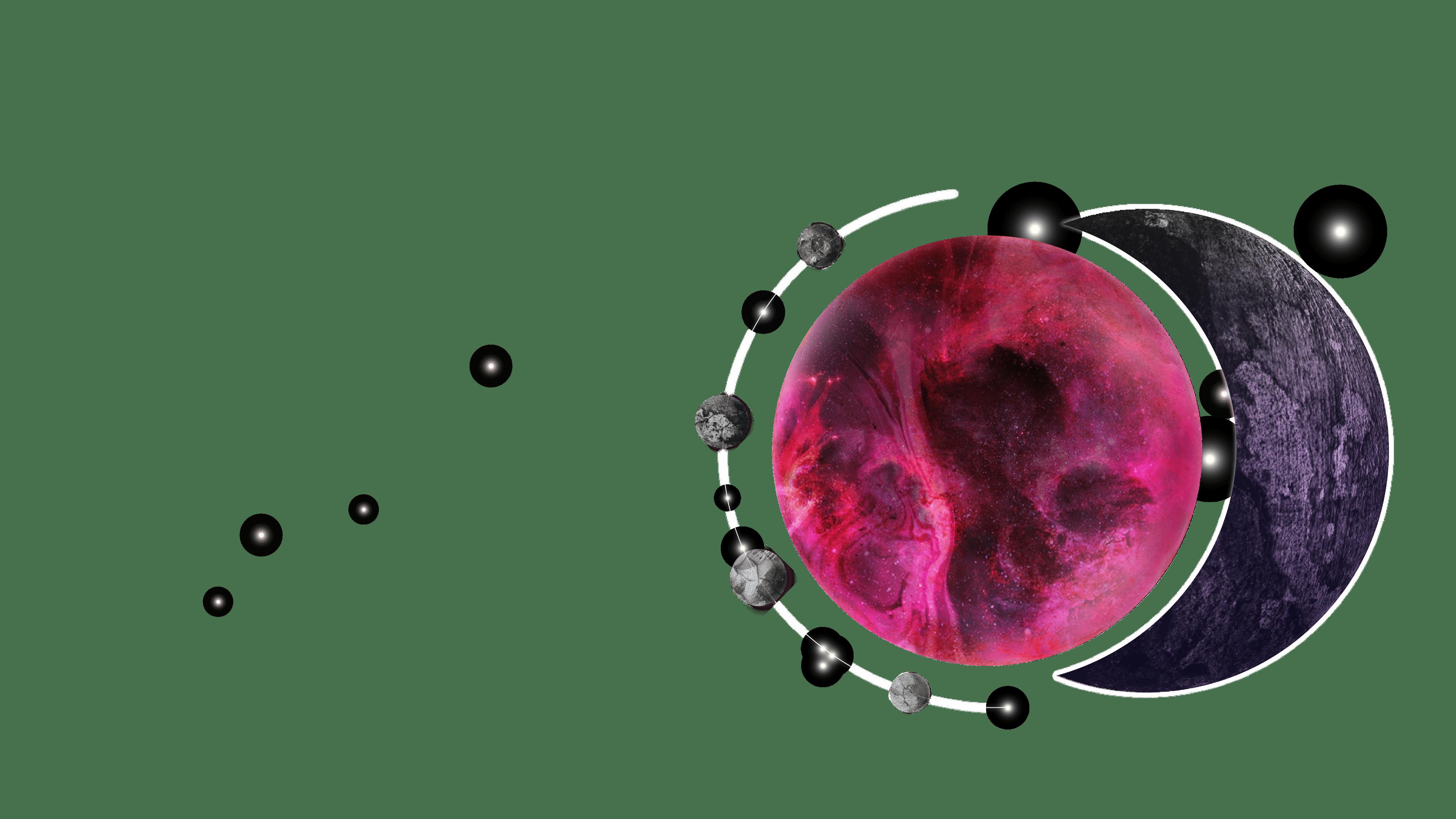 planet & moon